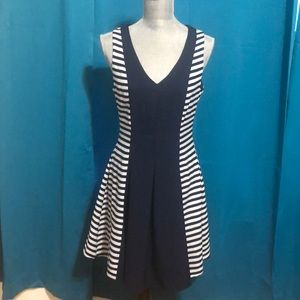Charming Charlie, navy front white navy stripes